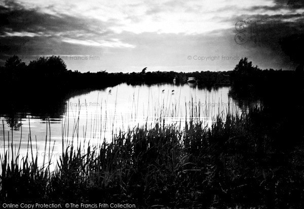 Photo of The Broads, Sunset On The Bure c.1931