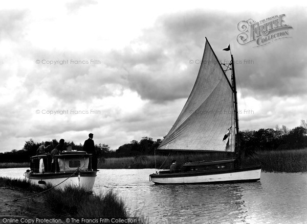 Photo of The Broads, Tacking Out, Fleet Dyke c.1931