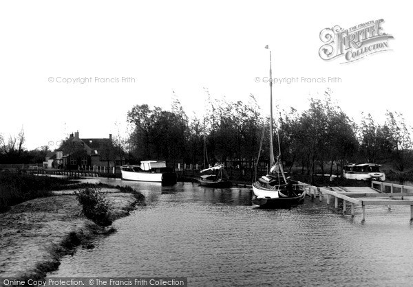 The Broads, The Pleasure Baot Staithe, Hickling Broad c.1931
