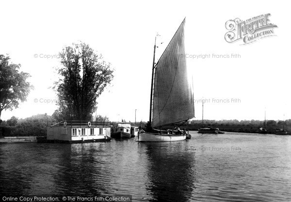 The Broads, The River Bure Near Caister Camp c.1931