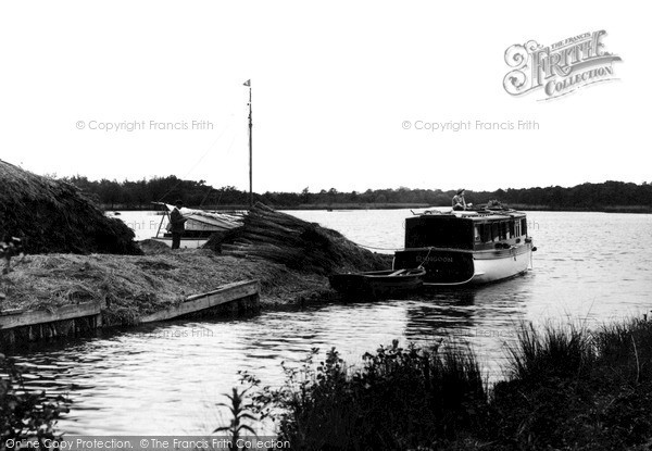 The Broads, The Staithe, Ranworth Broad c.1931