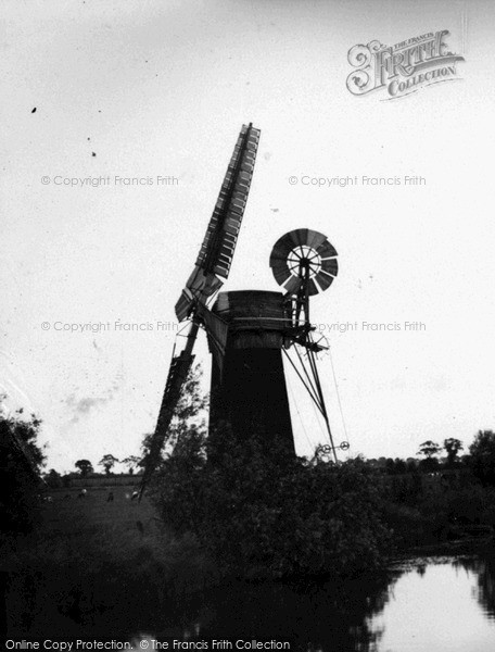 Photo of The Broads, Windmill c.1955