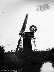 The Broads, Windmill c.1955, The Norfolk Broads