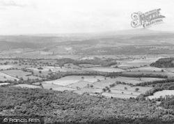 The Wrekin, Panoramic View Looking East c.1960