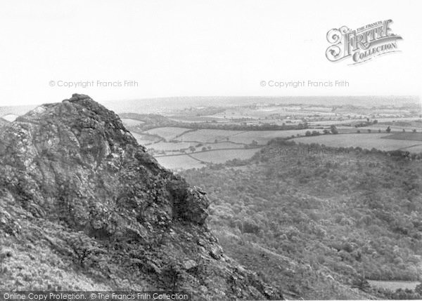 Photo of The Wrekin, Panoramic View Looking East c.1960