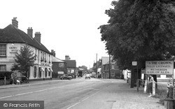 Theale, Crown Hotel c.1955