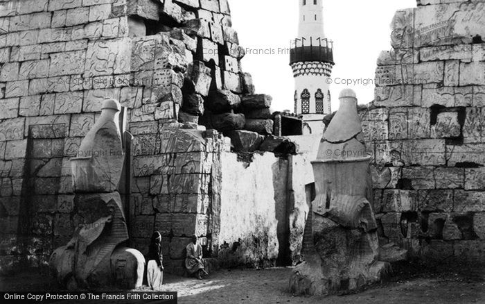 Photo of Thebes, Entrance To The Great Temple, Luxor 1860