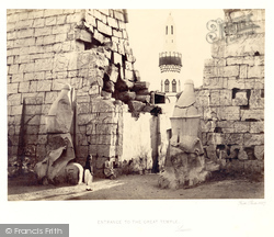 Thebes, Entrance To The Great Temple, Luxor 1860