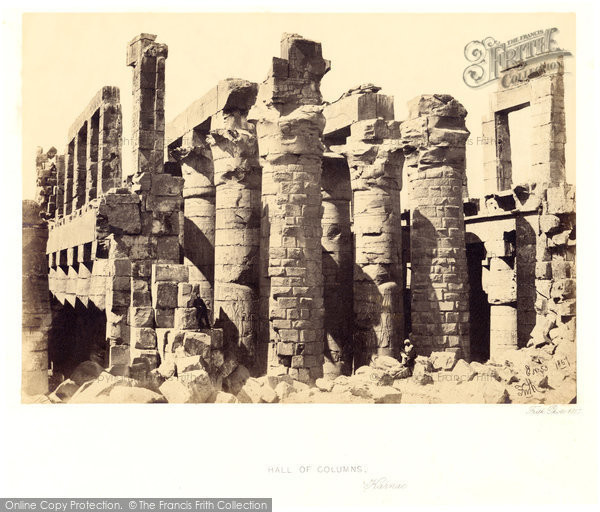 Photo of Thebes, Exterior Of The Hall Of Columns, Karnak 1857