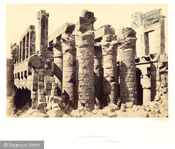 Thebes, Exterior Of The Hall Of Columns, Karnak 1857