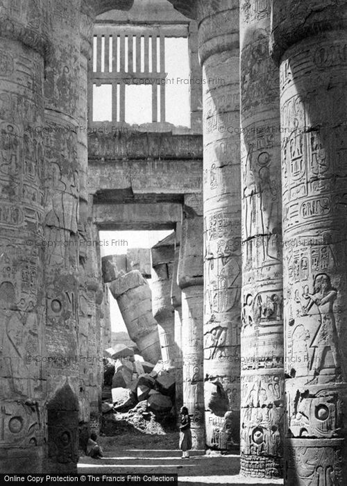 Photo of Thebes, Interior Of The Hall Of Columns, Karnak 1860