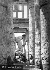 Thebes, Interior of the Hall of Columns, Karnak 1860