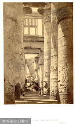 Interior Of The Hall Of Columns, Karnak 1860, Thebes