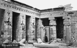 Thebes, Medinet Habou, Interior Court 1857
