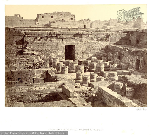 Photo of Thebes, New Excavations At Medinet Haboo 1860