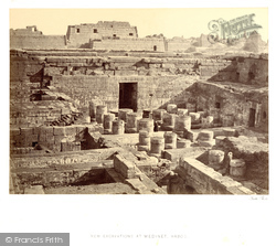 Thebes, New Excavations At Medinet-Haboo 1860