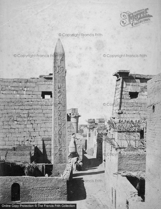 Photo of Thebes, Obelisk And Pylon c.1870