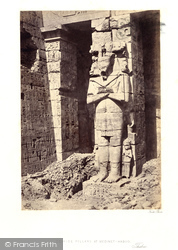 Thebes, Osiridae Pillar At Medinet-Haboo 1860