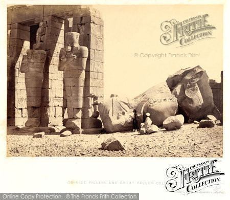 Photo of Thebes, Osiridae Pillars And Great Fallen Colossus 1860