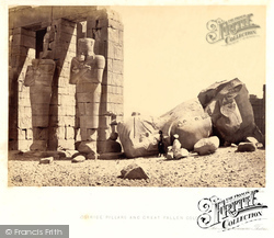 Osiridae Pillars And Great Fallen Colossus 1860, Thebes