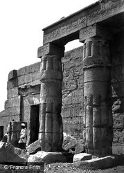 Thebes, Portico Of The Temple Of Goorneh 1860