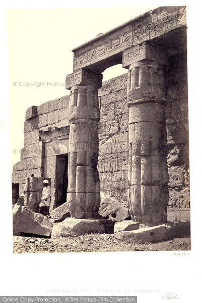 Photo of Thebes, Portico Of The Temple Of Goorneh 1860