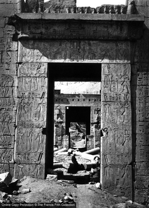Photo of Thebes, Pylon Gateway At Medinet Haboo 1860