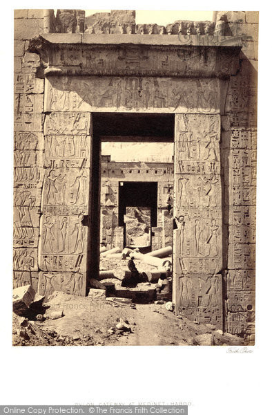 Photo of Thebes, Pylon Gateway At Medinet Haboo  1860