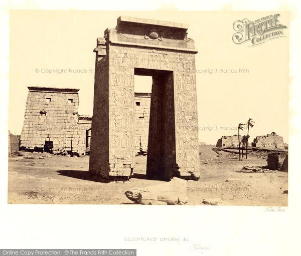 Photo of Thebes, Sculptured Gateway, Karnak 1857