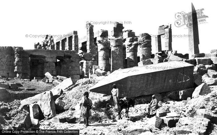 Photo of Thebes, The Broken Obelisk, Karnak 1857
