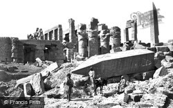Thebes, The Broken Obelisk, Karnak 1857