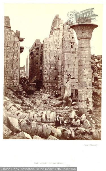 Photo of Thebes, The Court Of Shishak, Karnak 1857
