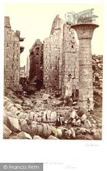The Court Of Shishak, Karnak 1857, Thebes