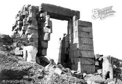 Thebes, The Granite Pylon, Karnak 1860