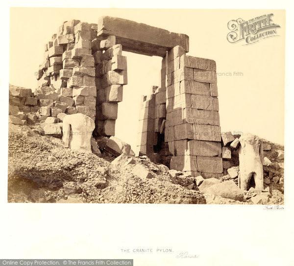 Photo of Thebes, The Granite Pylon, Karnak 1860