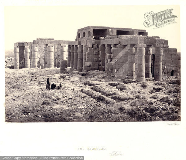 Photo of Thebes, The Rameseum 1860
