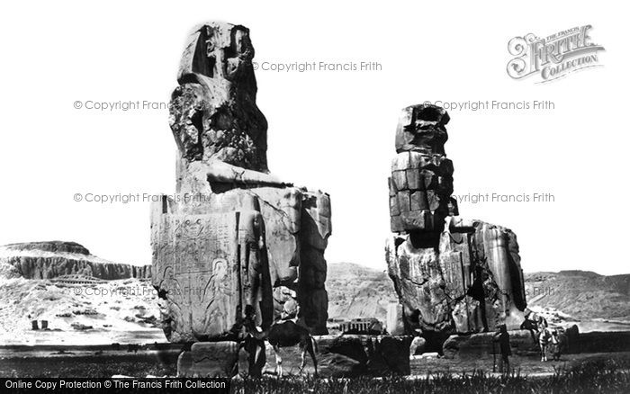 Photo of Thebes, The Statues Of Memnon 1857
