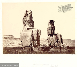Thebes, The Statues Of Memnon 1857