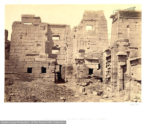 Photo of Thebes, The Temple Palace At Medinet Haboo 1860