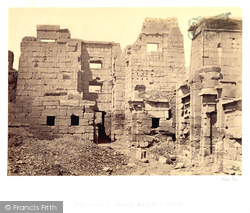 Thebes, The Temple Palace At Medinet-Haboo 1860