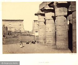 Thebes, View At Luxor 1857