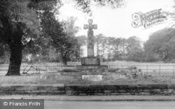 Thelwall, War Memorial c.1965