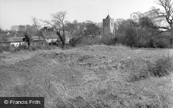 Therfield, Church And Mount c.1950