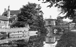 Town Bridge And Haling Path c.1955, Thetford