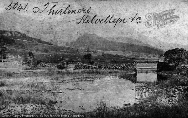 Thirlmere, Helvellyn Path c1880