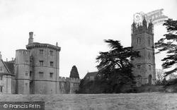 Thornbury, Castle And St Mary's Church c.1955