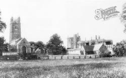 Thornbury, Castle And St Mary's Church From Church Lane c.1960