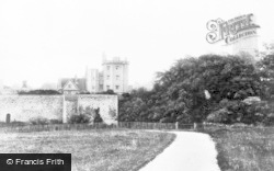 Thornbury, Castle And St Mary's Church From New Road c.1960