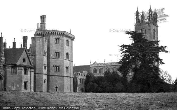 Thornbury, the Castle and Church c1955