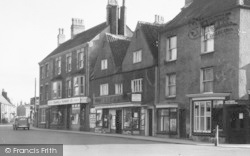Thornbury, The Plain, Shops c.1950